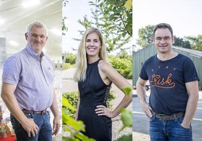 V.l.n.r.: Theo Coumans, Susanne Görtz en Peter van Dijck.