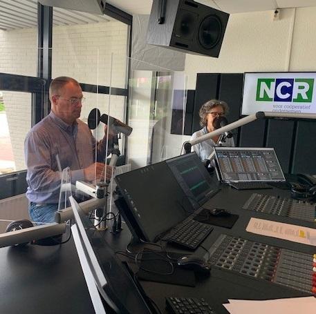 Opnames van de NCR Podcast in een studio